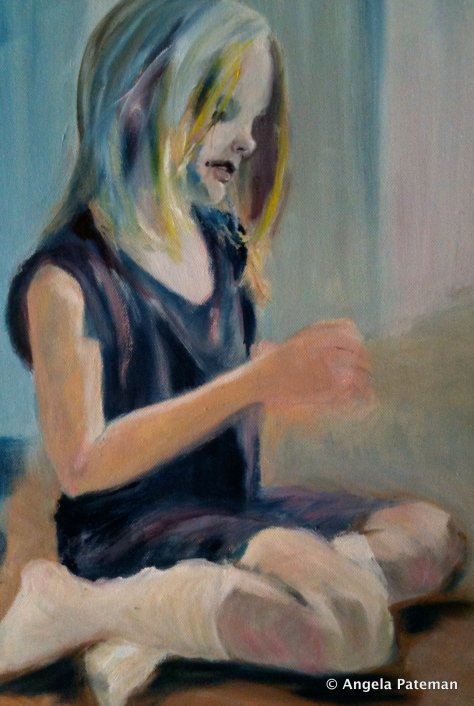 """Rowan sitting"" by Angela Pateman"
