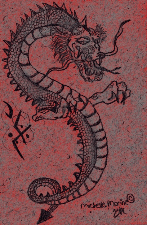 """Japanese Dragon"" by Michelle Morine"
